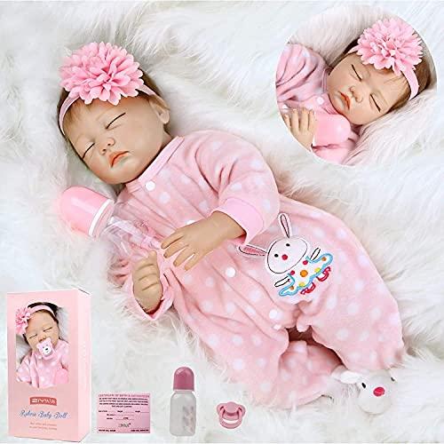 ZIYIUI Muñecas Reborn 22 Pulgadas 55cm Muñecas Bebé Reborn Niñas Suave Vinilo de Silicona Realistas Bebe Reborn Silicona Reales Regalo de Juguete