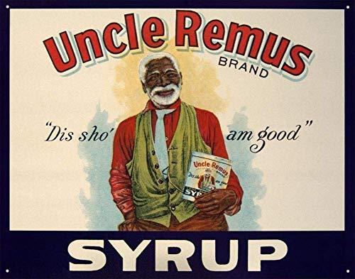 ZHKERYNA Cartel de lata con texto 'Uncle Remus', de metal moderno, elegante, de aluminio, estilo vintage, para casa, hombre, cueva, garaje, decoración de pared, 20 x 30 cm, 8 x 12