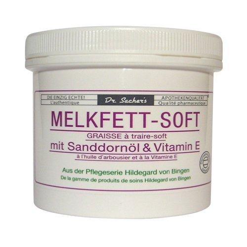 4 Dosen / Tiegel Melkfett Soft mit Sanddornöl und Vitamin E von Dr. Sachers