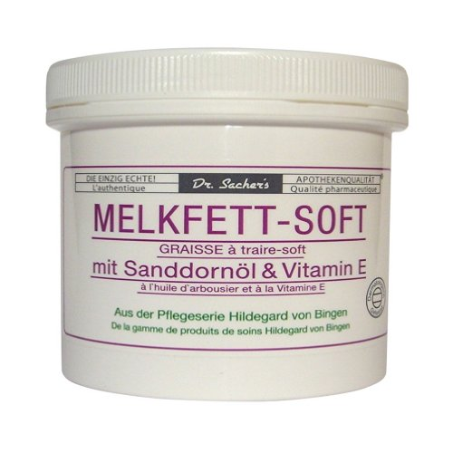 2 Dosen / Tiegel Melkfett Soft mit Sanddornöl und Vitamin E von Dr. Sachers