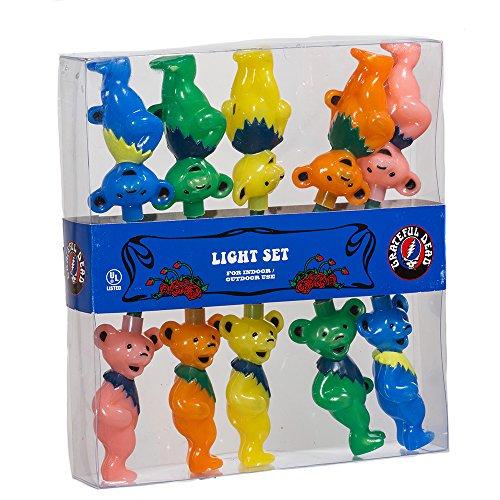 Grateful Dead Kurt Adler UL 10-Light Bears Light Set (GD9141)