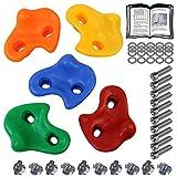 ALPIDEX Prises d'escalade Enfants , Capacité de Charge jusqu'à 200 kg , matériel de Fixation Inclus , différentes quantités Multicolores - 5 pièces