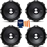 Rockford Fosgate PPS4-6 6.5' 800W 4-Ohm Impedance Mid-Range Car Speakers 4 Pack with Fiber Reinforced Paper Cone and Stamp Cast Aluminum Frame