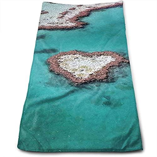 DLJIYZX Toallas de Mano Heart Reef Australia Toalla Facial Toallas Suaves Toallas de baño Altamente absorbentes 30X70CM