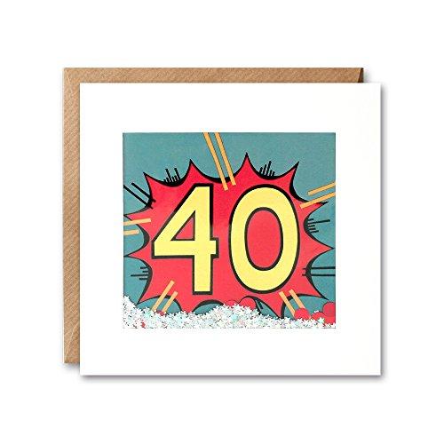 James Ellis Kapow Shakies edad 40cumpleaños tarjeta