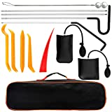EVBOYS Essential Automotive Car Tool Kit with Air Wedge, Long Reach Grabber, Pulling Cable Multifunctional Tool Set for Cars Trucks Vehicle - 13 PCS