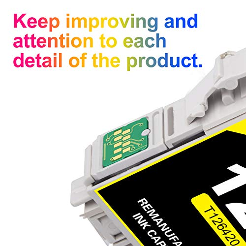 Uniwork Remanufactured Ink Cartridge Replacement for Epson 126 T126 use for Workforce 435    520 545 635 645 WF-3520 WF-3530 WF-3540 WF-7010 WF-7510 WF-7520 Stylus NX430 Printer, 5 Pack