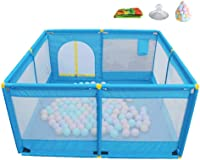 LXDDP Baby Playpen Mattress with Balls Anti-Rollover Play Yard with Door Anti-Slip Outdoor and Indoor with Storage Bag