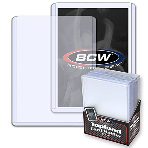 Case of 1000 BCW 3 x 4 Standard Baseball Trading Card Topload Holders - 40 Packs of 25 per pack image