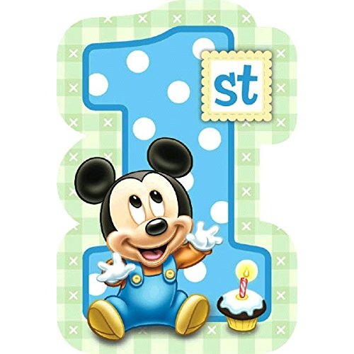 Amazon Amscan Disney Baby Mickey Mouse 1St Birthday Invitations Blue Kitchen Dining