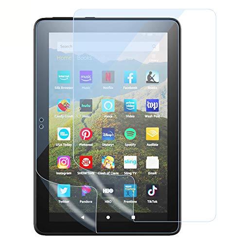 TiMOVO Schutzfolie Kompatibel mit Fire HD 8 und 8 Plus 2020, 2 Stück Kratzfest Blaulichtfilter Bildschirmschutzfolie PET Folie Einfache Installation Kompatibel mit Amazon Fire HD 8 und 8 Plus 2020 - Hellblau