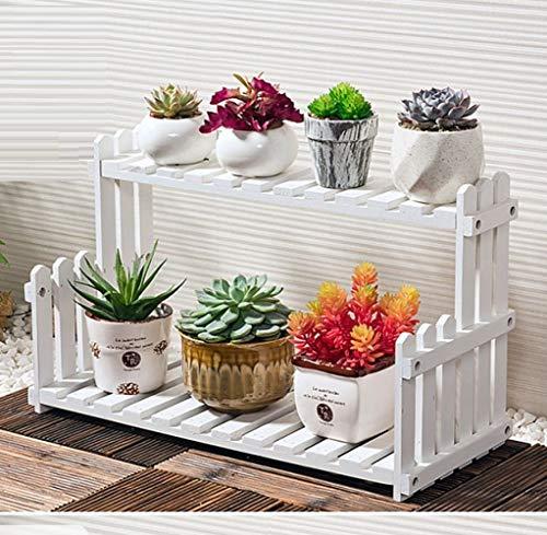 Blume Stand Hölzern Fußboden Mehrschicht Pflanze Lager Gestell Solide Holz Dekorativ Regal Stark Und Feste/Weiß /...