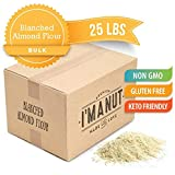 Blanched Almond Flour 25 lbs Great for Paleo and Keto Diet, Grain and Gluten Free, Certified Kosher...