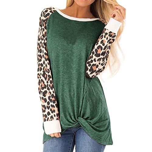 Damen Longsleeve T-Shirt Langarmshirt, 2019 ITISME Oversize Farbblock Mode Tops Frauen Farbblock Shirts Rundhals Langarm Patchwork Sweatshirt Pullover Dating Sport Streetwear Sweatshirt Sale