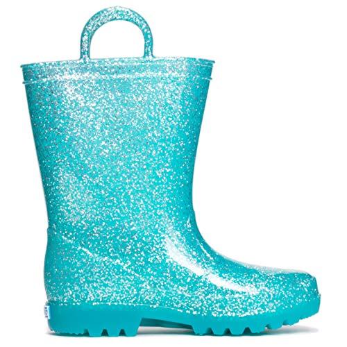 Price comparison product image ZOOGS Girls Glitter Rainboots Aqua