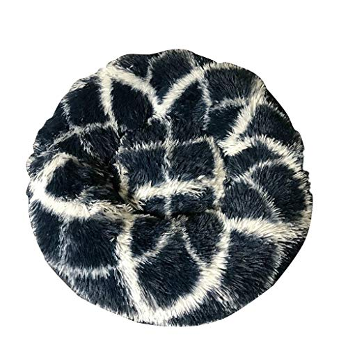 Cat Bed Round Dog Basket Warm Soft Dog Bed Dog House Animal Supplies Pet Bed Mat (Color : White)