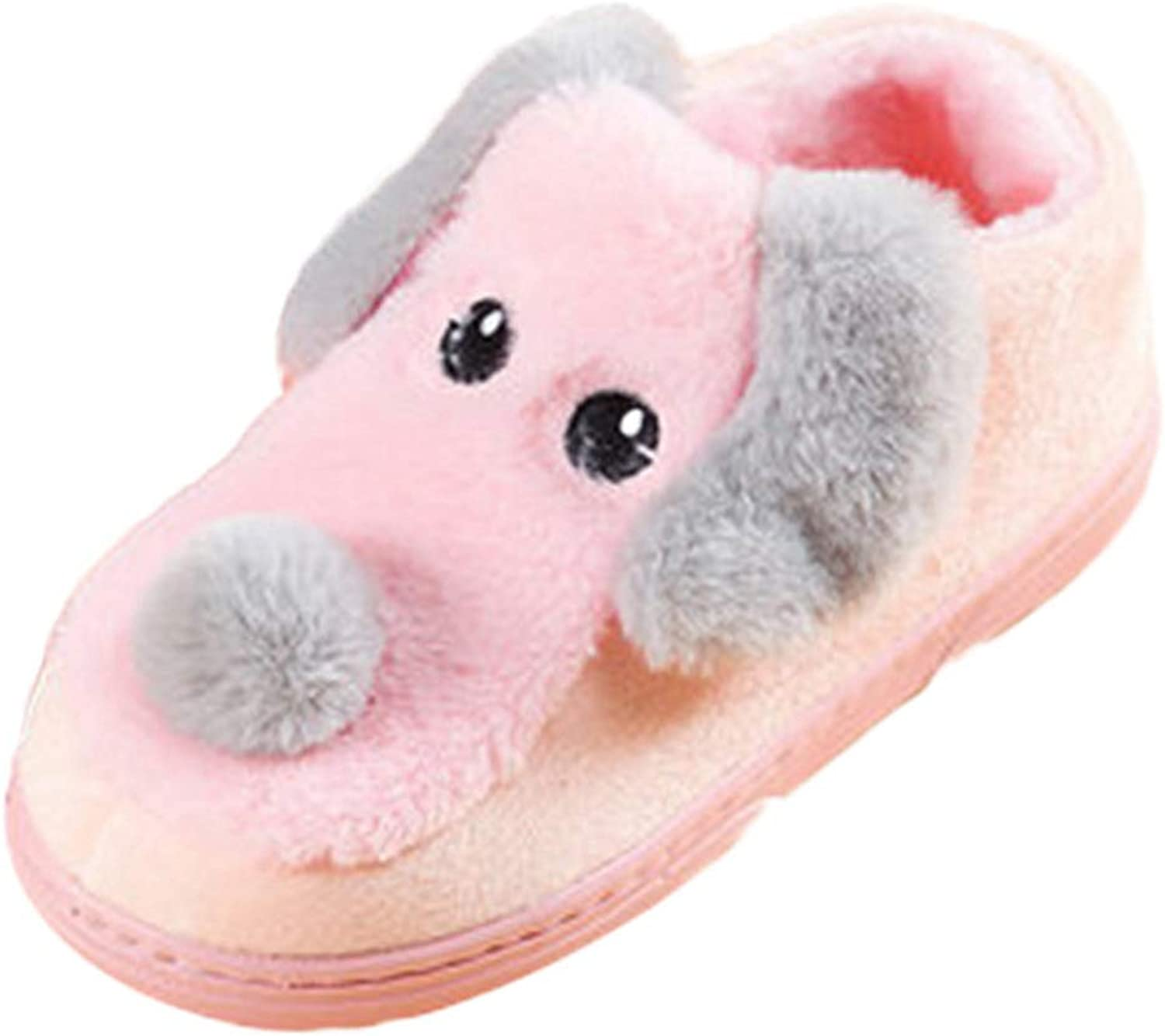 Winter Boots shoes Female Home Cute Women Animal Pattern Non-Slip Round Toe Thick Heel Cotton Slippers