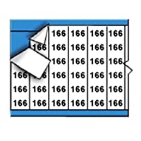 Brady WM-166-PK Repositionable Vinyl Cloth (B-500) Black on White Solid Numbers Wire Marker Card (25 Cards) [並行輸入品]
