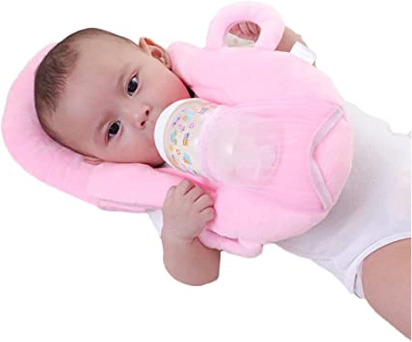 Newborn Babys Portable Detachable Feeding Pillows Self-Feeding Support Babys Cushion Pillow (A-Pink)