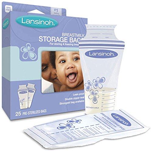 Lansinoh, Breastmilk Storage Bags, 25 Pre-Sterilized Bags - 2pc