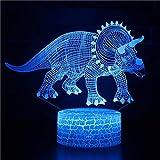 USB acrílico luz nocturna angry bird of prey Tyrannosaurus rex y varios dinosaurios con luz decoración del hogar ilusión año nuevo regalo de Navidad