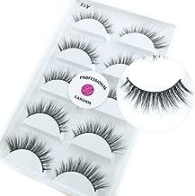 Luxurious Siberian Mink 3D False Eyelash LASGOOS Degisn Natural Daily Look Fake Eyelashes Eye Makeup 5 Pairs/Box (A13)