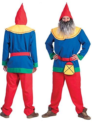 Karneval-Klamotten Zwergen Kostüm Herren Zwerg Kostüm Herren-Kostüm mit Zwergen-Mütze Garten-Zwerg Karneval