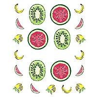 ネイルズマニキュアネイルアートデザイン美容デカール用1PCSフルーツ飲酒ステッカー (Color : STZ 493)
