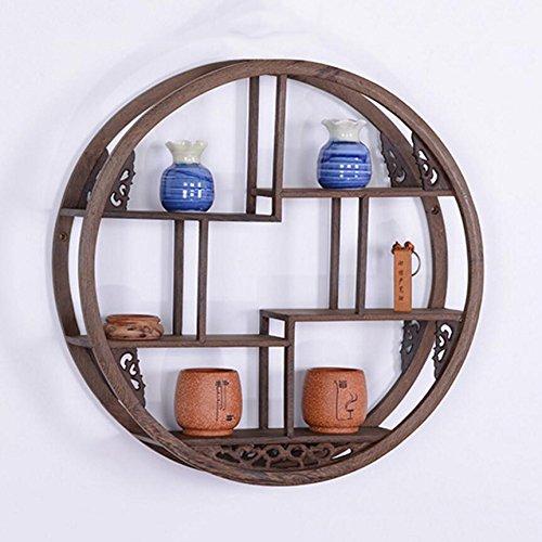 Bloemenstandaard, massief hout Chinese muur opknoping muur schat theepot thee rek antieke Plant Rack