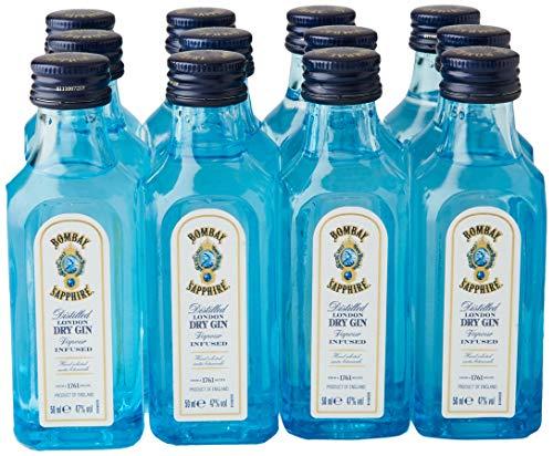 Bombay SAPPHIRE London Dry Gin 40{3728757f9dae6653a0fe199dfb62068a927b40b67b97448210d916b6630656ab} Vol. 0,05 l