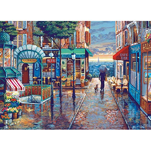 1000 Pieces Of Puzzle Adult Romantic Town European Scenery Children'S Oil Painting Diy Puzzle Interactive Game Toy Gift