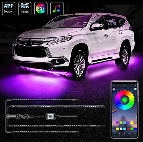 Exterior Car Underglow LED Strip Lights, 16 Million Colors Neon Accent...