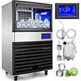 VEVOR 110V Commercial ice Maker 155LBS/24H with 44LBS Bin and Electric...