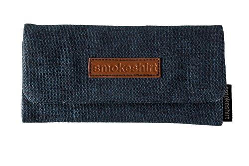 smokeshirt® Club Tabaktasche, Überzug für Tabakbeutel, Drehertasche, Feinschnitt-Tasche in div. Farben und Designs Canvas oder Schlangenoptik, modisch, elegant