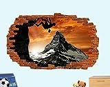 HQSM Pegatinas de pared deportes escalada en roca pegatinas de pared efecto 3D...