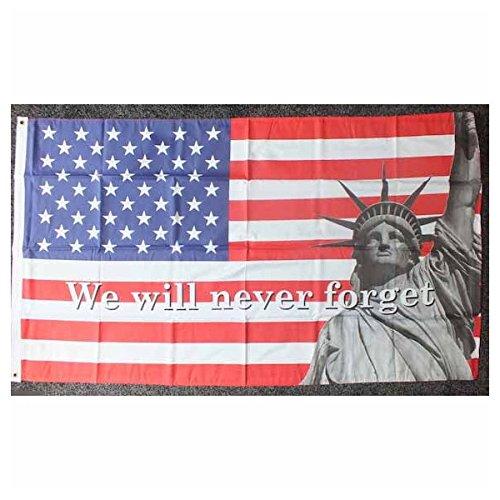 国旗 911 テロ 自由の女神 アメリカ合衆国 USA 星条旗 特大フラッグ【ノーブランド品】