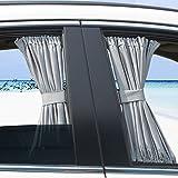 Basong Cortina Universal eclipsar sol de coche protección contra sol con pista de aleación de aluminio 70*47cm gris