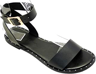 Best strappy ankle wrap flat sandals Reviews