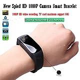 Smart Bracelet Espion Caméra 1080 P HD Mini DV Avec Caché Portable Vidéo Enregistreur Réglable Bracelet @ Laing-H
