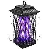Aerb Lámpara Antimosquitos Eléctrico UV 18W, LED Mosquito Lámpara Trampa 4000V Potencia de Alto Voltaje, Matar Mosquitos, Moscas, Polillas, para hogar