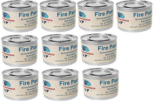 Gastro-Bedarf-Gutheil 10 x Sicherheitsbrennpaste je Dose 200 g Qualitätsprodukt Fire Paste Brennpaste Brenngel Brenndauer ca. 2,5 Std. für Chafing Dish Speisewärmer Warmhaltebehälter Rechaud