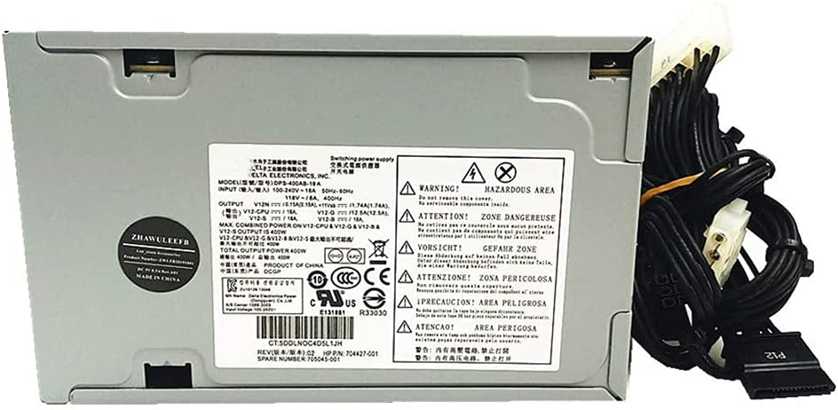 Lee_store for HP Z230 704427-001 400W Power Supply 705045-001 DPS-400AB-19 ZU10129-13046