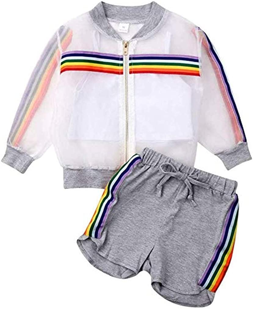 National Easy-to-use products 1-6T Toddler Girls Shorts Set 3pcs V Summer Clothes Baby Cropped