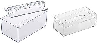 蝶プラ工業 ワイド ディープ ペーパータオルケース & デスコ ティッシュケース 透明 125×244×86H(mm)【セット買い】