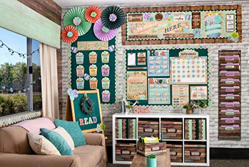 Rustic Bloom Calendar Bulletin Board Set Photo #6