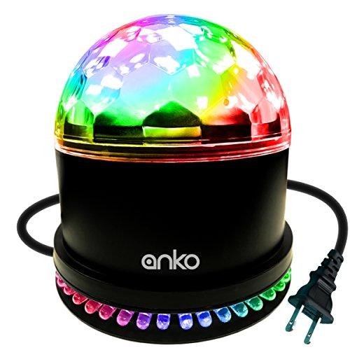 ANKO LED Stage Magic Ball Light, LED Intelligent Voice RGB Rotating Magic Ball Lights For KTV, Party, Wedding, Show, Club Pub, Disco DJ And More(BLACK) (1 PACK)