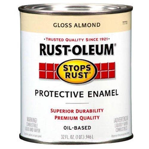 Rust-Oleum 7770502 Stops Rust Brush On Paint, Quart, Gloss Almond