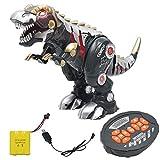MaanZys Rc Dinosaurier Kinder Spielzeug Unterhaltungsmusik intelligenten Roboter dinosaurio Tyrannosaurus mechanischer Krieg Drachen Tier dinosaurio Roboter Spielzeug,Schwarz -