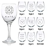 Personalised Engraved Wine Glass - Christmas Gift - Birthday Gift - for Her (Style 1)