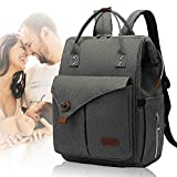 CALIYO Diaper Bag Backpack with Portable Changing Pad, Large Unisex Baby Bags for Boys Girls, Multipurpose Travel Back Pack for Moms Dads, Dark Grey